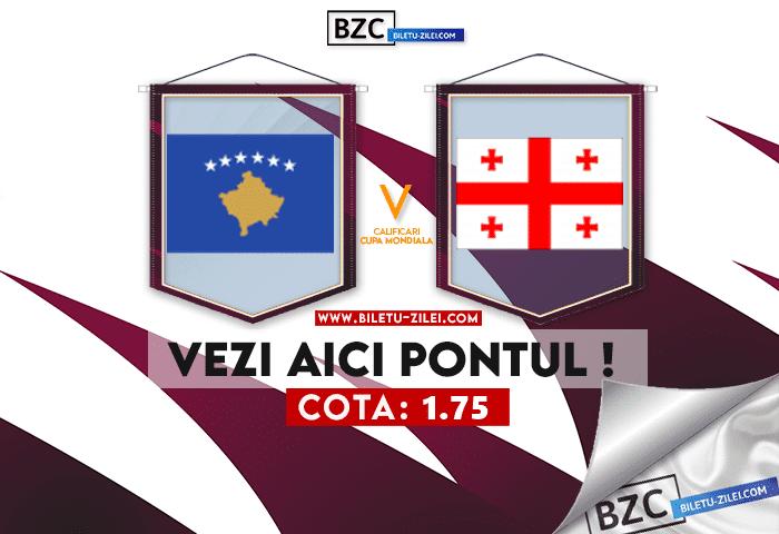 Kosovo – Georgia ponturi pariuri 12.10.2021