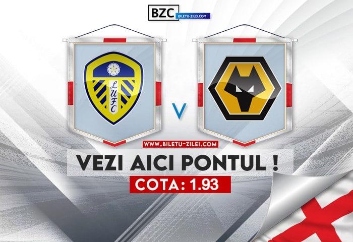 Leeds – Wolves ponturi pariuri 23.10.2021