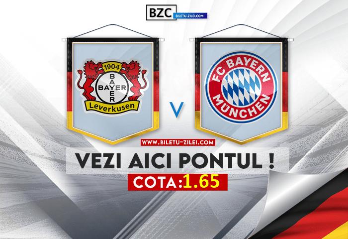 Leverkusen – Bayern ponturi pariuri 17.10.2021