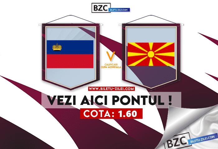 Liechtenstein – Macedonia de Nord ponturi pariuri 08.10.2021