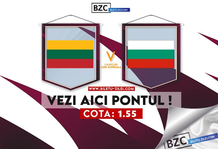 Lituania – Bulgaria ponturi pariuri 09.10.2021