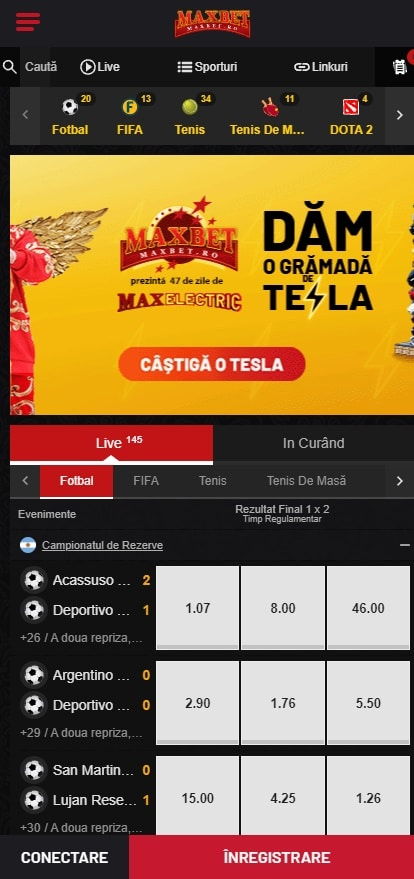maxbet mobil homepage