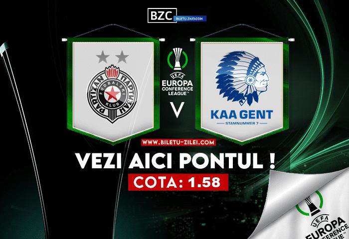 Partizan – Gent ponturi pariuri 21.10.2021