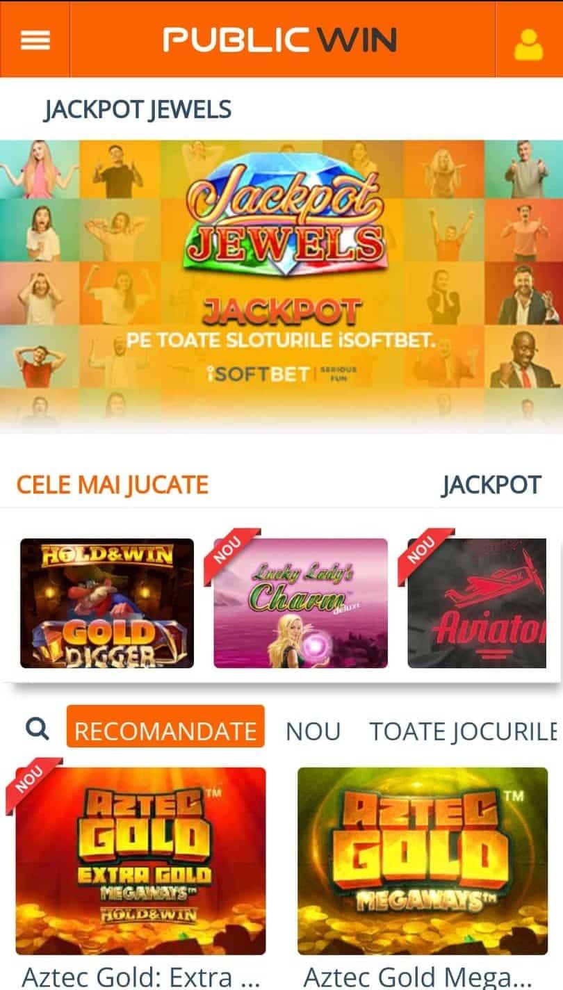 publicwin casino mobile