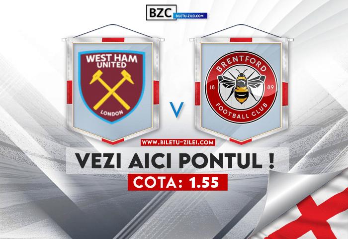 West Ham – Brentford ponturi pariuri 03.10.2021