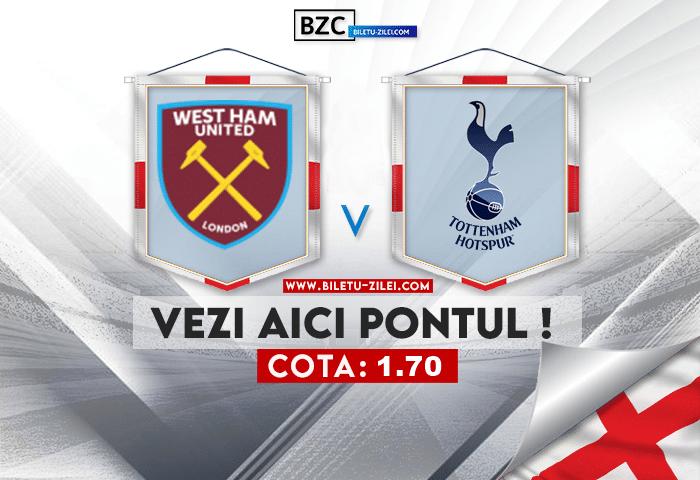 West Ham – Tottenham ponturi pariuri 24.10.2021