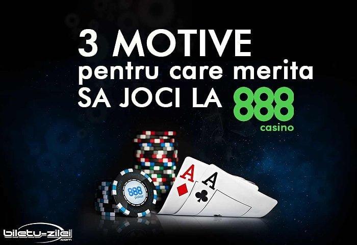 3 motive pentru care merita sa joci la 888 casino