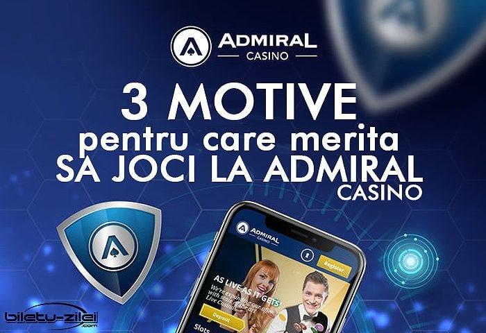 3 motive pentru care merita sa joci la admiral casino