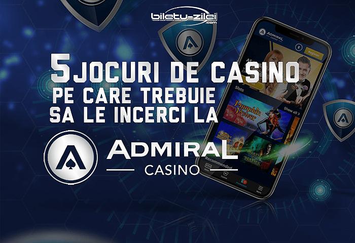 5 jocuri de casino pe care trebuie sa le incerci la admiral