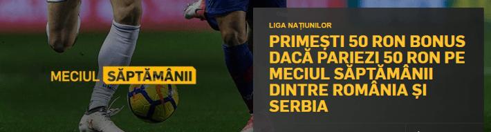 50 lei bonus la betfair pentru romania serbia
