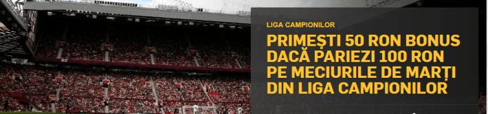 50 lei pariu gratuit la betfair pentru liga campionilor
