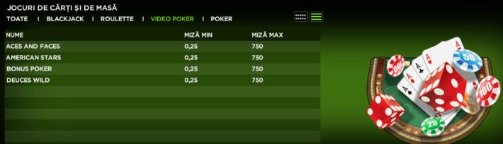 888casino video poker