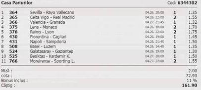 Bilet pariuri propus de Bogdan pentru 26 aprilie 2015
