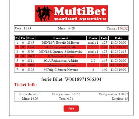 Bilet pariuri propus de Ciprian pentru 13 martie 2015