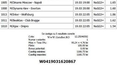 Bilet pariuri propus de Flavius pentru 19 martie 2015