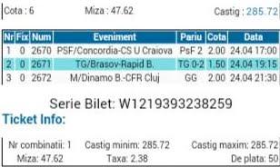 Bilet pariuri propus de Marcel pentru 24 aprilie 2015