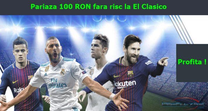 Bonus Netbet 100 RON Freebet la Barcelona – Real Madrid