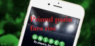 Bonus Unibet pentru mobil primul pariu fara risc