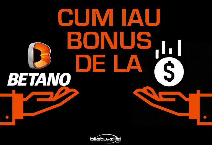 Cum iau bonusul la Betano