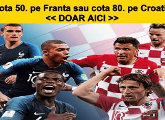 Cupa Mondiala Pariaza aici la cota 50.0 pe Franta sau 80.0 pe Croatia