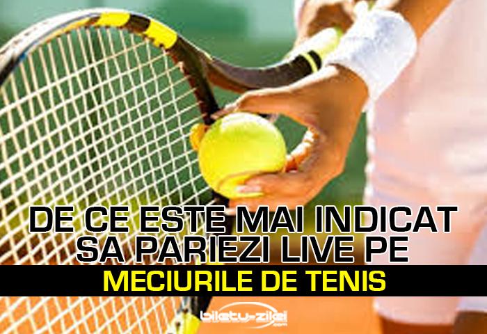 De ce este mai indicat sa pariezi live pe meciurile de tenis 1