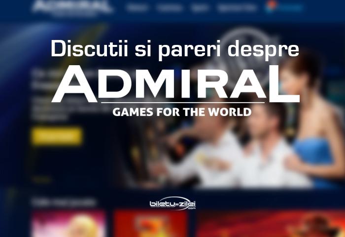 Admiral păreri și discuții
