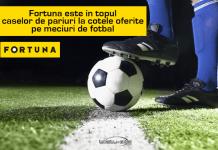 Fortuna este in topul caselor de pariuri la cotele oferite pe meciuri de fotbal