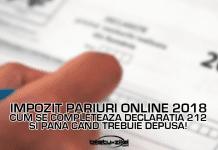 Impozit pariuri online 2018 cum se completeaza Declaratia 212 si pana cand trebuie depusa