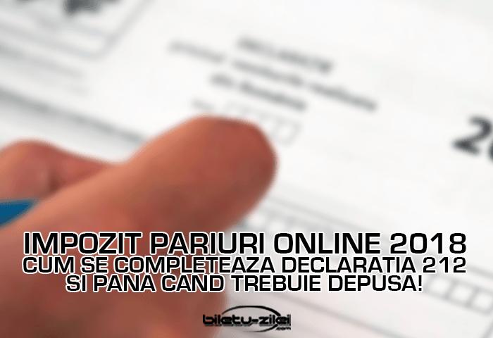 Impozit pariuri online