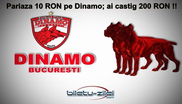 La Unibet pui 10 RON pe succesul lui Dinamo cu Sepsi si castigi 200 RON