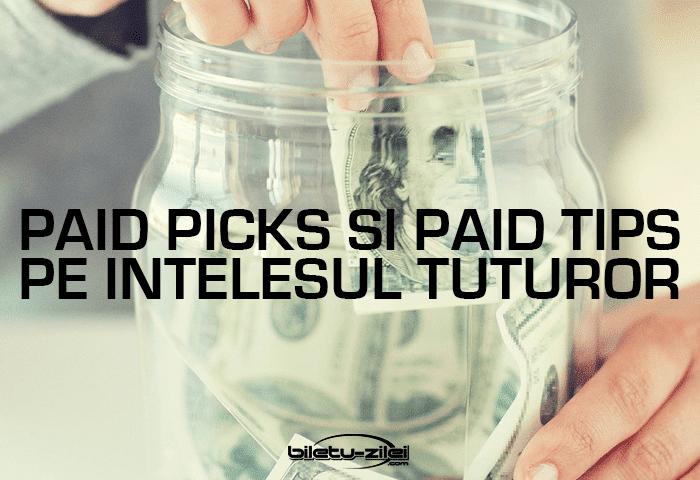 Paid picks și paid tips pe înțelesul tuturor Ponturi pariuri Scoala de pariuri