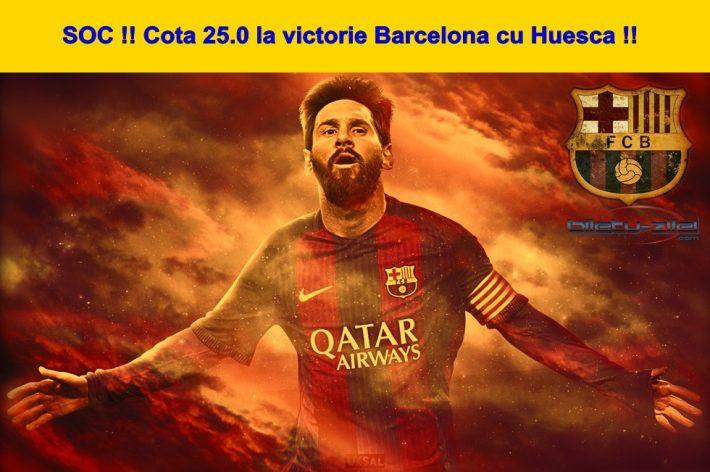 Pariaza doar aici la cota 25.0 pe Barcelona cu Huesca