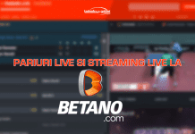 Pariuri live si streaming live la Betano
