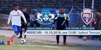 Ponturi pariuri – Braila – ASU Poli – Romania Liga 2 – 10.10.2018