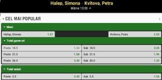 Ponturi tenis Simona Halep Petra Kvitova