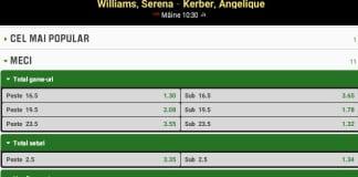 Pronosticuri Serena Williams Angelique Kerber