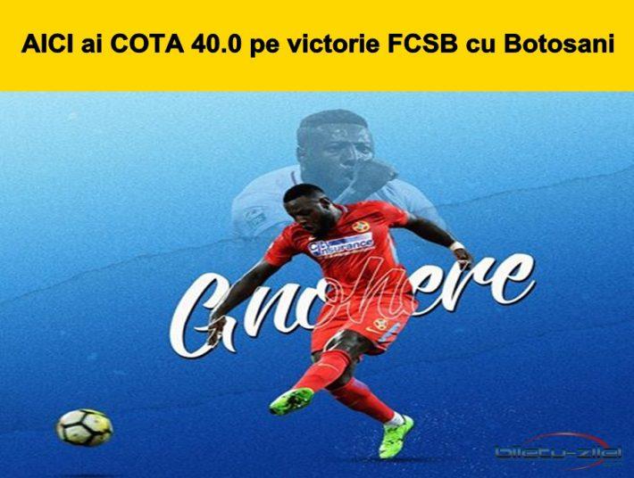SOC Aici ai cota 40.0 la victorie FCSB cu Botosani