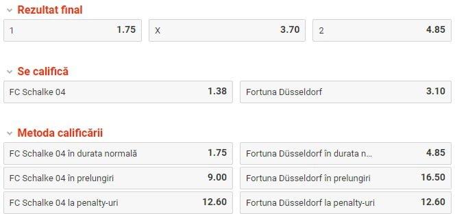 Schalke vs Dusseldorf ponturi pariuri - Cupa Germaniei - 06 februarie 2019 Ponturi pariuri