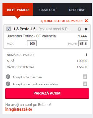 Screenshot 2018 11 26 Pariuri Juventus Torino CF Valencia Betano