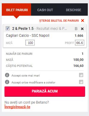 Screenshot 2018 12 15 Pariuri Cagliari Calcio SSC Napoli Betano