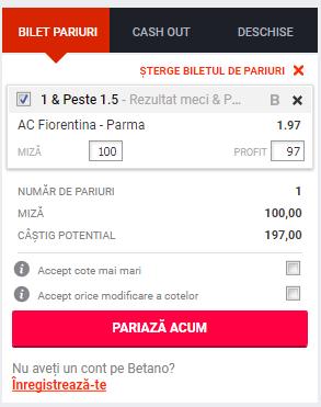Screenshot 2018 12 25 Pariuri AC Fiorentina Parma Betano