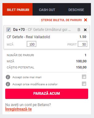 Screenshot 2019 01 08 Pariuri CF Getafe Real Valladolid Betano1