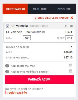 Screenshot 2019 01 11 Pariuri CF Valencia Real Valladolid Betano 1