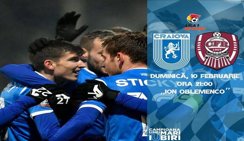 , U Craiova vs CFR Cluj ponturi pariuri – Romania Liga 1 – 10 februarie 2019