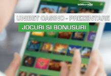 Unibet casino prezentare jocuri si bonusuri