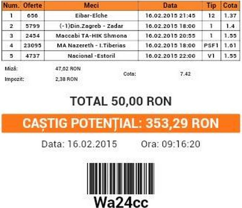 bilet costi 16.02.2015
