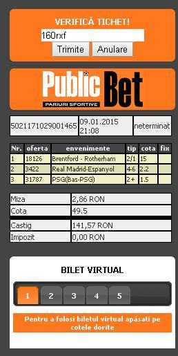 bilet marius 10.01.2015