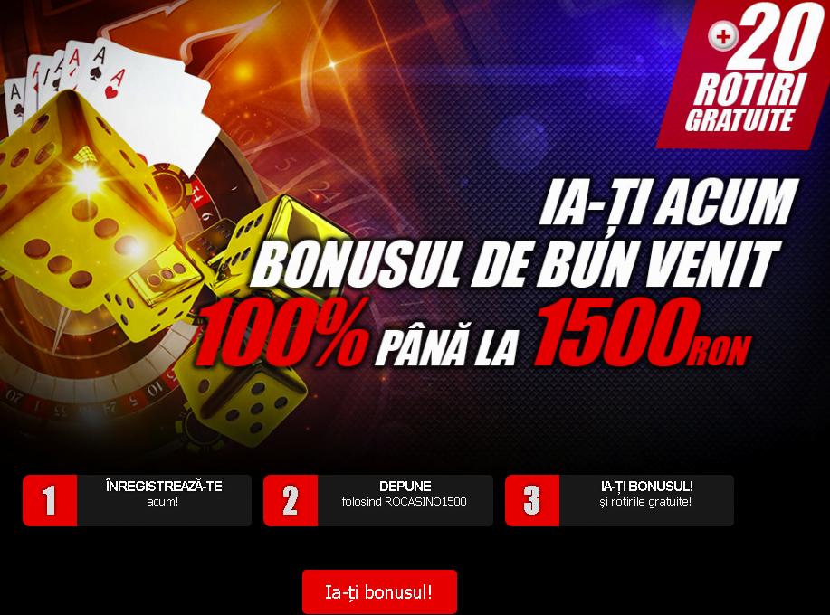 Winmasters Casino bonus 1500 lei