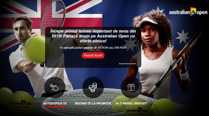 castiga un pariu gratuit pentru australian open