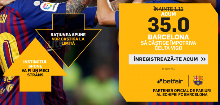 click aici si pariaza pe victorie barcelona la cota 35 1